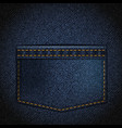 texture denim with a pocket vector image