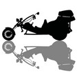 the silhouette of a motor tricycle vector image vector image