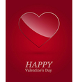 Valentine day luxury glass heart vector image vector image