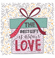 valentines day lettering handwritten romantic vector image vector image