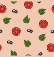 vegetables seamless pattern with tomatoes basil vector image vector image