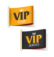 VIP service and VIP club labels vector image vector image