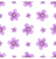 watercolor lavender blossom seamless vector image
