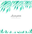 watercolor leaves on white background vector image vector image