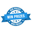 win prizes ribbon win prizes round blue sign win vector image vector image