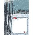 Frame on a winter landscape vector image