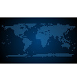 Abstract world map from light dots vector image