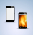 Abstract black smartphone background vector image