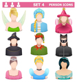 Person Icons Set 4 vector image