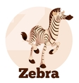 ABC Cartoon Zebra vector image vector image