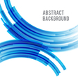 Abstract background bright and light curve blue vector image vector image