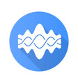 abstract fluid overlapping waves blue flat design vector image vector image