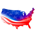 american flag on a white background vector image