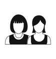 Avatar two female icon vector image vector image