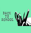 back to school doodle template isolated on white vector image vector image