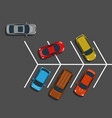 bad car parking top view vector image vector image