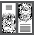Banners with retro tattoo symbols Cartoon old vector image vector image