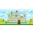 beautiful classic old castle flat vector image