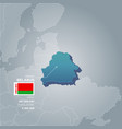 belarus information map vector image