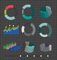 business charts in 2d and 3d flat design digital i