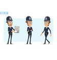 cartoon british policeman boy character set vector image vector image