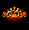 casino banner with playing cards symbols vector image vector image