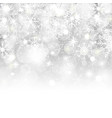 christmas background with snowflakes stars snow vector image