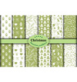christmas set seamless backgrounds 21 vector image vector image