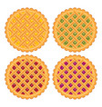 collection homemade fruit and berry pies vector image vector image