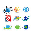 collection of planet logo vector image vector image
