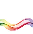 colorful wave abstract wave flow background vector image vector image