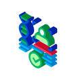 confirmation dna file isometric icon vector image vector image