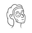 cosmetic facial clay mask linear icon feminine