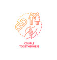 couple togetherness red concept icon vector image