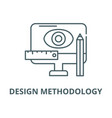 design methodology line icon linear vector image vector image