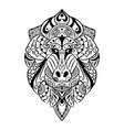 doodle art entangle mandrill vector image