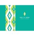 Emerald green ikat diamonds horizontal seamless vector image vector image
