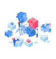 employees coworking team working isometric vector image vector image