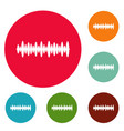 equalizer design icons circle set vector image vector image