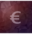Euro symbol in flat style icon vector image