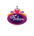 fashion boutique and store logo label emblem vector image vector image