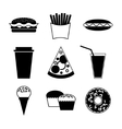 Fast food and drink icon on white background vector image vector image