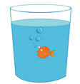 fish inside a glass vector image vector image