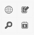 flat social icons set on white vector image vector image