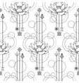 Floral geometric seamless pattern vector image vector image