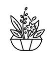 garden herbs line icon concept sign outline vector image