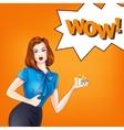 girl in pop-art style vector image vector image