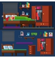 girl sleep in the bed Woman room Bedtime vector image vector image