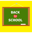 Green board with chalk on the wall Back to school vector image vector image