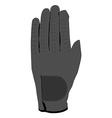 Grey glove vector image